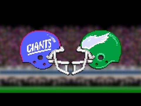 Tecmo Super Bowl 18 -  Streaming The New York Giants vs The Philadelphia Eagles