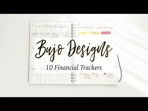 10 Types of Financial Trackers for Bullet Journaling