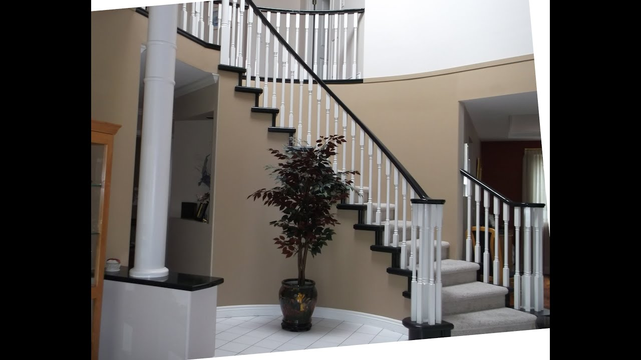 Elegant Spraying Multiple Paint Colors On A Staircase
