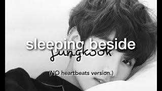 [BTS ASMR🎧] Jungkook Sleeping Beside You | Soft Breathing + No Heartbeats VER