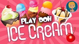 Play Doh ICE CREAM Maker (Massinha) And Frozen Princess Elsa & Anna NAILS Prom - Let's Play Together