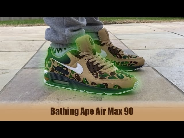 Bape Air Max 90 Custom - YouTube