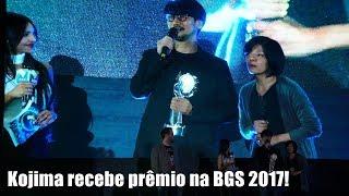 Hideo Kojima recebe prêmio na BGS 2017!