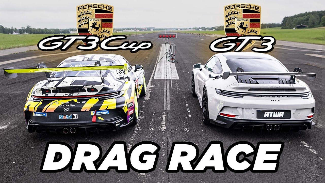 Download Porsche GT3 992 vs. Porsche GT3 Cup | DRAG RACE | Daniel Abt