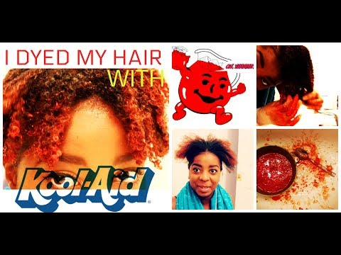 I DYED MY HAIR WITH KOOL AID |  BERRYFAE NATURALLY |