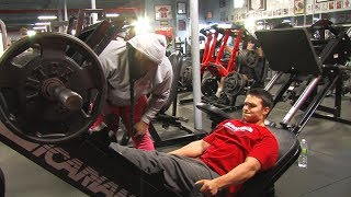 Train with Kai  - Logan Keevan trains legs with Kai Greene!