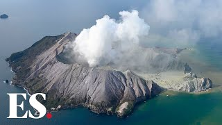 New Zealand volcano: Rescuers land on 'moon like' ash after White Island eruption