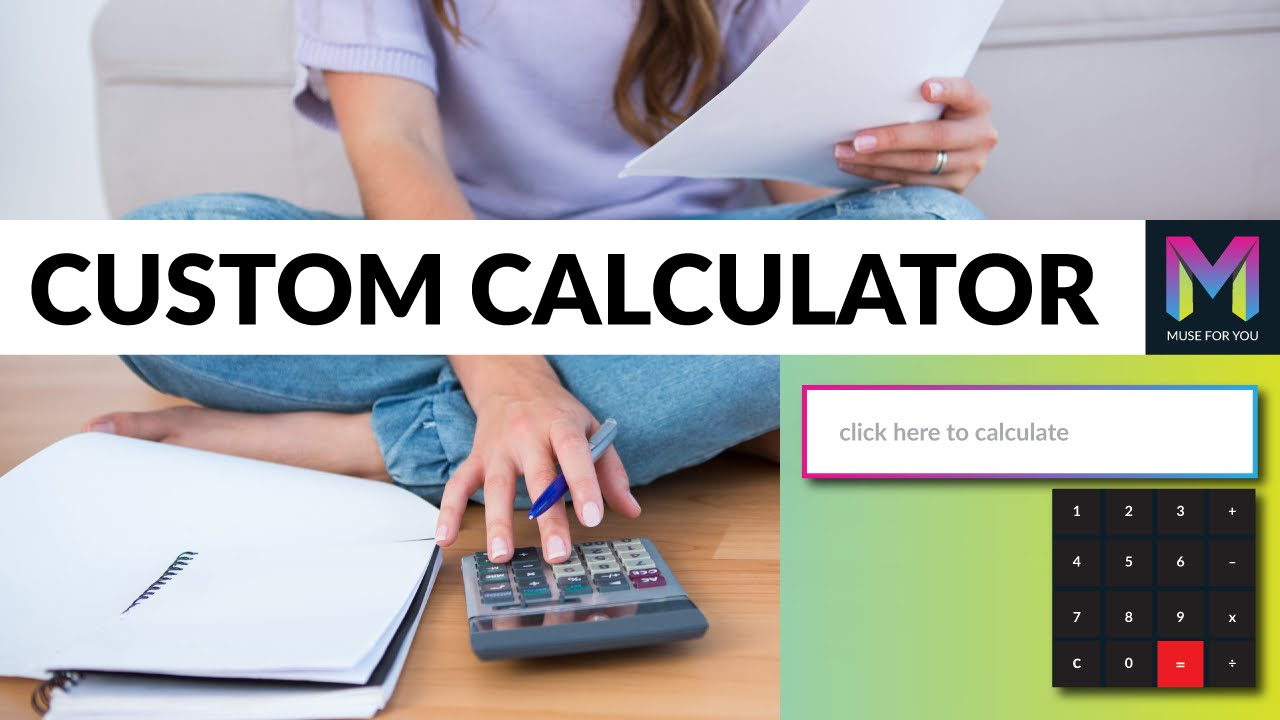 Custom Calculator Widget | Adobe Muse CC | Muse For You