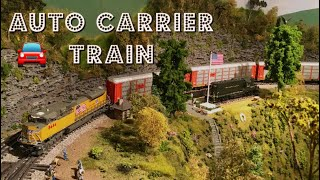 Lionel Legacy, MTH Auto Carrier Train at the Horseshoe Curve