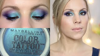 Eyeshadow Tutorial Tenacious Teal Maybelline Color Tattoo