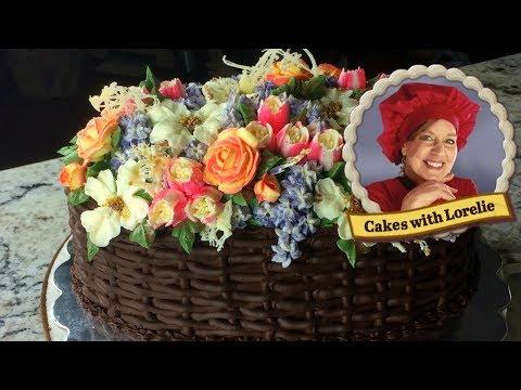 cake-decorating-flower-basket---mothers-day-cake-tutorial