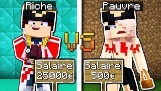 RICHE VS PAUVRE DANS MINECRAFT !