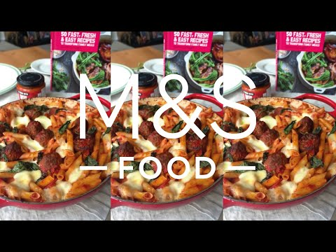 M&S Food | Cook With...Italian Meatball and Mozzarella Pasta Bake