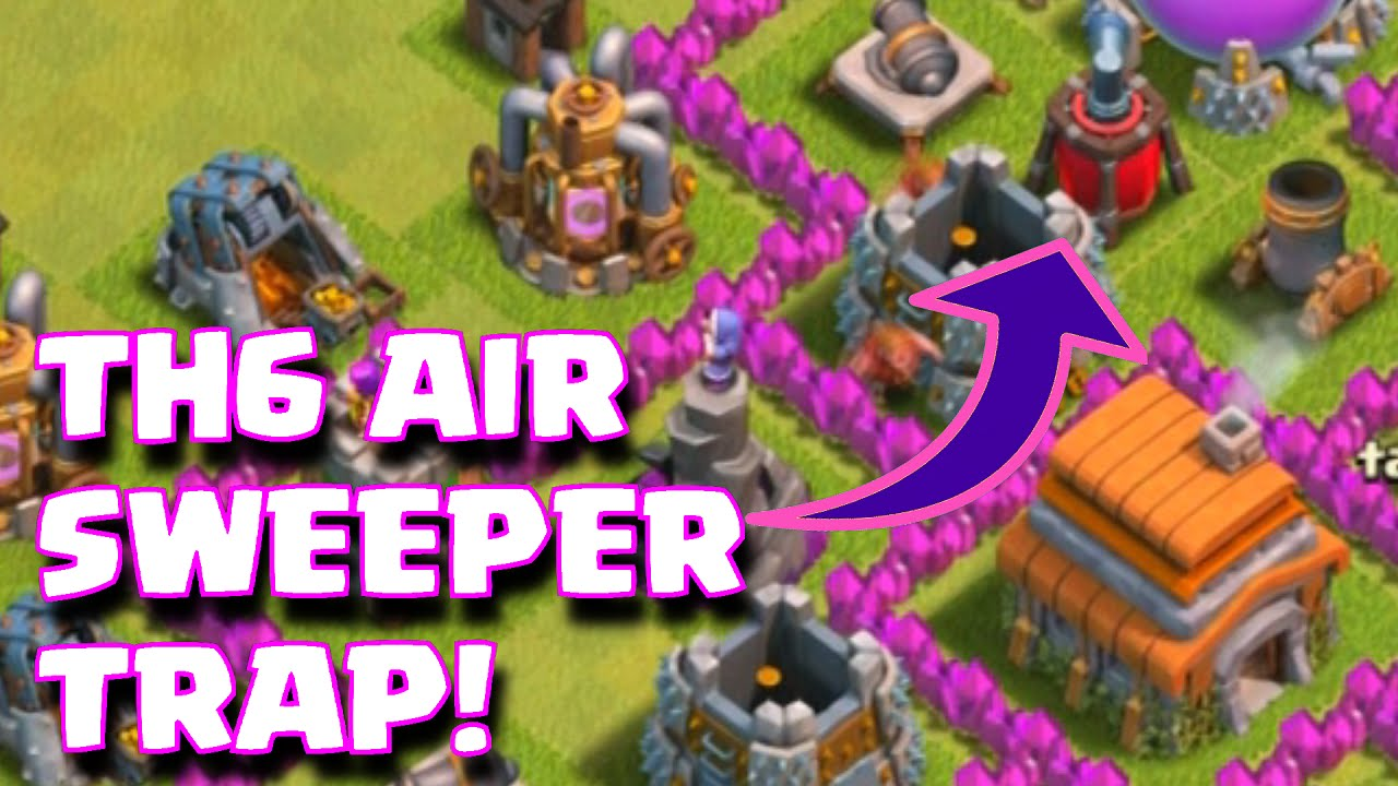 Base farming layout th6 by spikerush base farming layout th6 by - Clash Of Clans Townhall 6 Air Sweeper Base Layout Th6 Trophy War Farming Base Anti Air