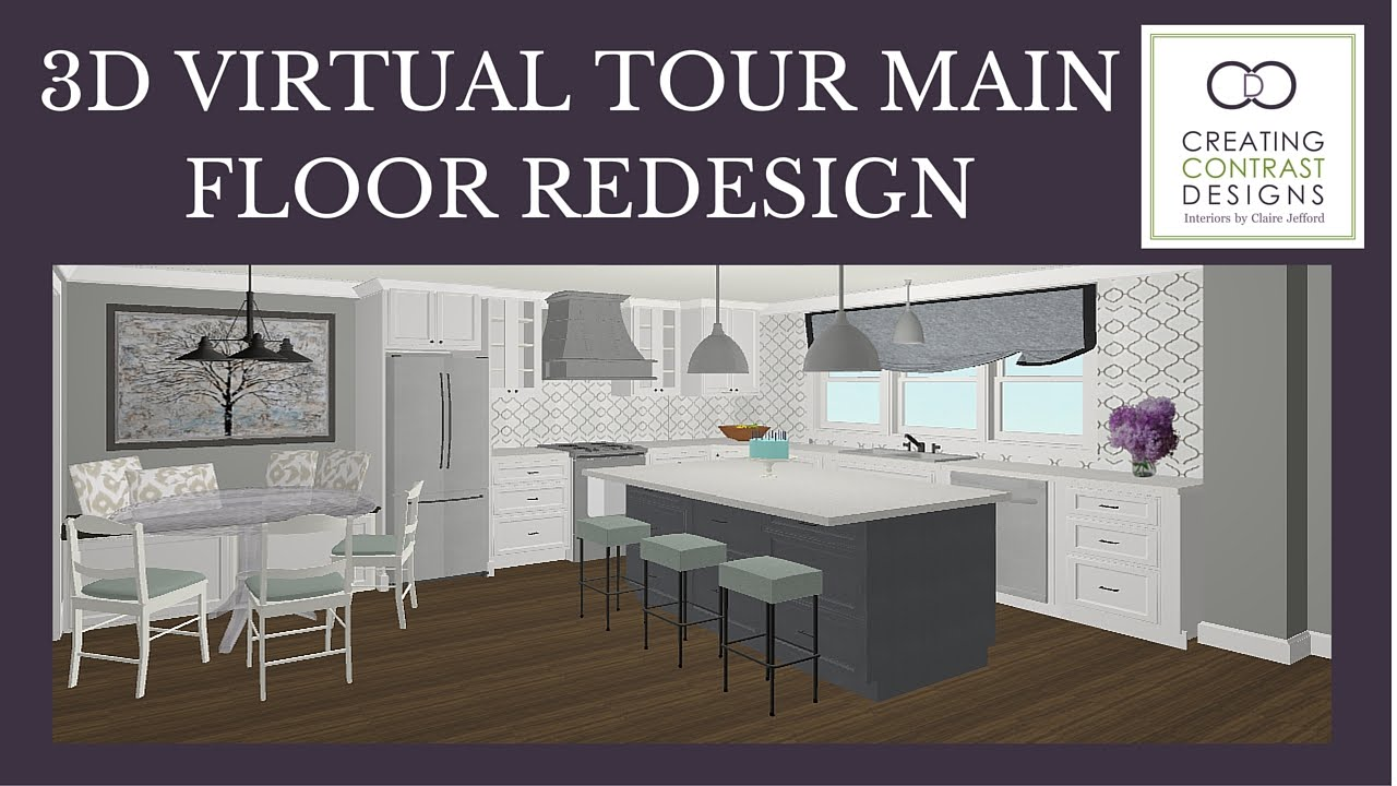 room planner 3d virtual tour main floor re design youtube. Black Bedroom Furniture Sets. Home Design Ideas