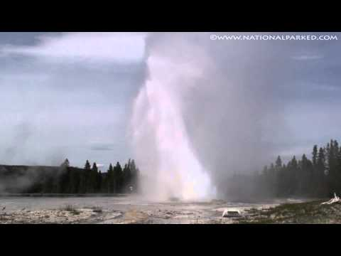 Daisy Geyser in Yellowstone National Park (1080p)
