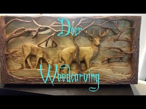 Deer Woodcarving
