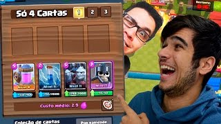 DESAFIO DO DECK DE 4 CARTAS - CLASH ROYALE