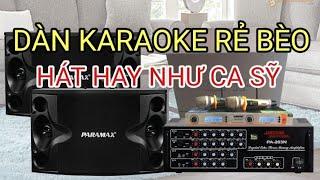 Cấu hình Karaoke Giá rẻ mà Hay bất ngờ - đẩy liền vang pw 210 2tr500k - loa 2tr200k Lh0964.867.866
