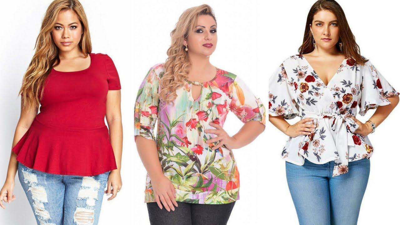 4cc8732a7d BLUSAS PARA GORDITAS DE MODA 👚 ¡15 Maravillosas Opciones de Moda!  Moda   Fashion  Blusas  Gorditas