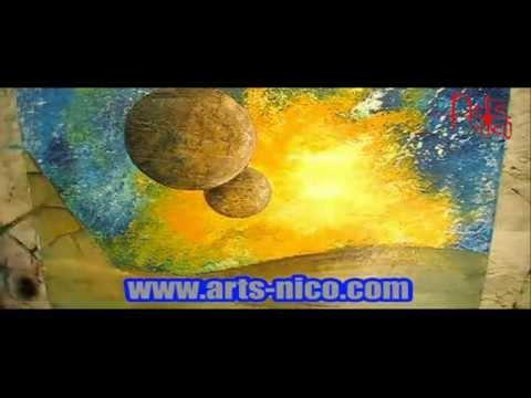 Comment r aliser un tableau de a z peinture acrylique youtube - Realiser un tableau ...
