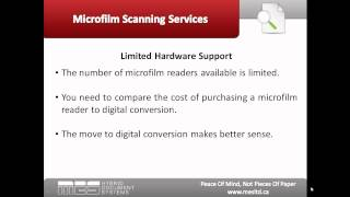 Microfilm Scanning Services:  Why Convert Your Microfilm to Digital Files