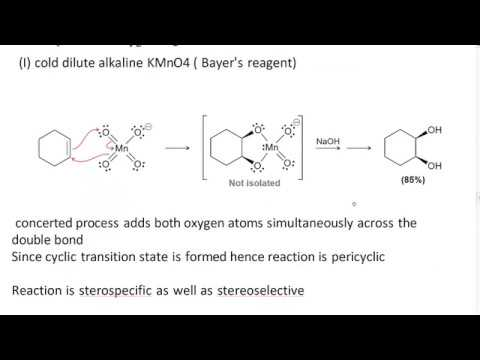 Oxidation Of Alkene By Basic Kmno4