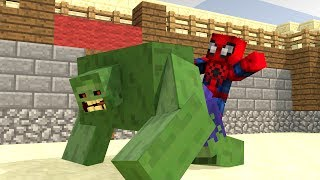 HULK VS SPIDERMAN - Minecraft Animation