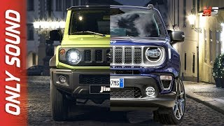 NEW SUZUKI JIMNY 2019 VS JEEP RENEGADE 2019 - FIRST TEST DRIVE ONLY SOUND