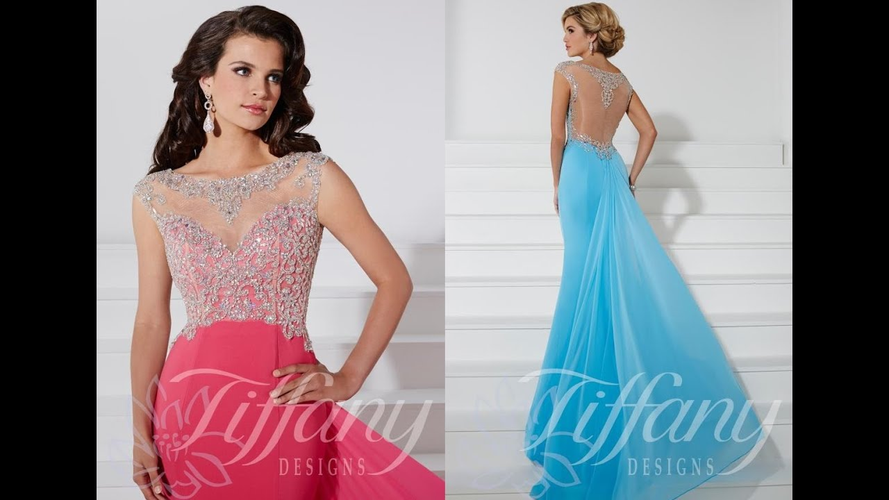 Tiffany Prom Dress 16108 from Peaches Boutique, Chicago, IL - YouTube