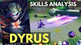 DYRUS : NEW FIGHTER HERO SKILL AND ABILITY ANALYSIS | Mobile Legends
