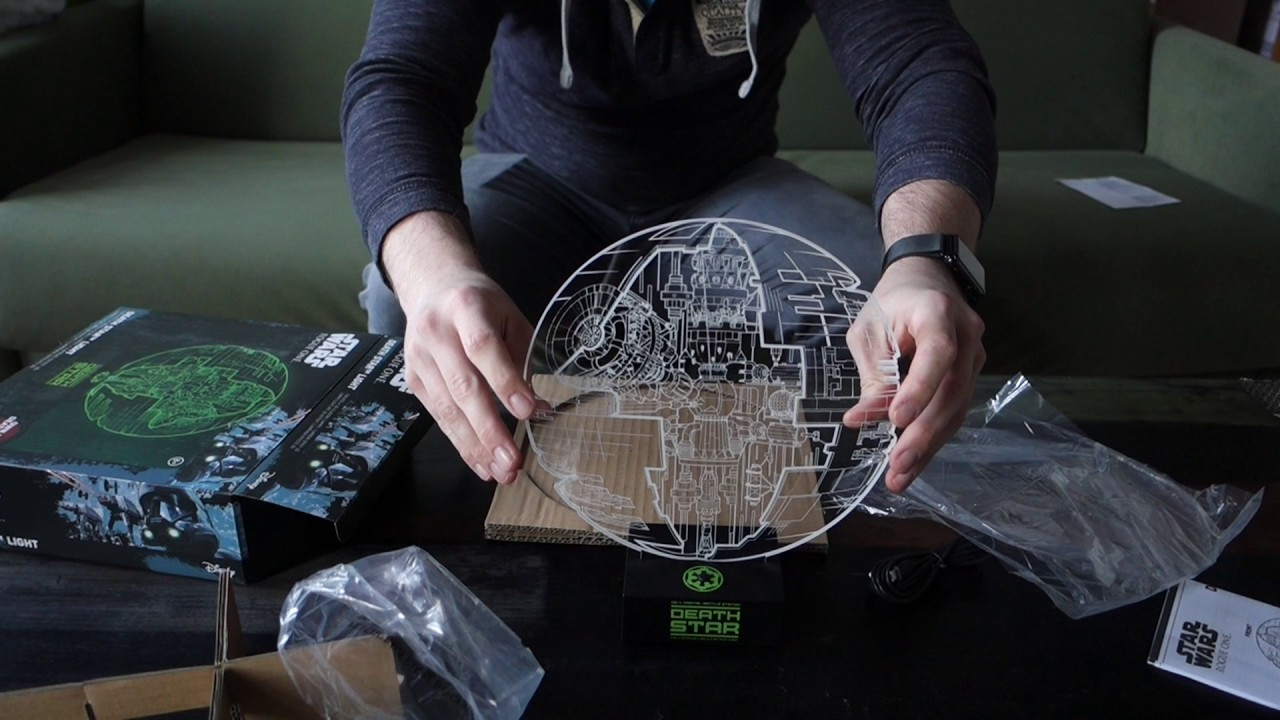 star wars rogue one lampe unboxing