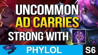 6 Uncommon ADCs with GHOSTBLADE to BOOST EARLY POWER (League of Legends)(I get asked this question a ton so here are 6 uncommon AD Carries that can use Youmuu's Ghostblade and why it's so good right now. Best Champions with the ..., 2016-06-29T16:59:11.000Z)