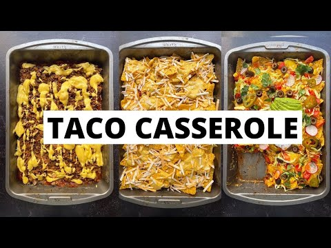 Vegan Taco Casserole Recipe 🌮 with Homemade Nacho Cheese