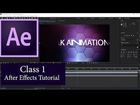 After Effects Tutorial Class 1 in اردو or हिन्दी I What is Composition #MAKanimationTutorials