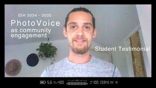 Student Testimonial: PhotoVoice as Community Engagement