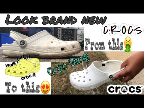 HOW TO CLEAN UR CROCS with just 1 ingredient //2019