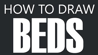 How To Draw A Bed - Mattress Bed Drawing (beds)