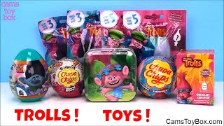 Dreamworks Trolls Surprise Toys Blind Bags Series 5 3 Tin Egg Chupa Chups Opening Fun