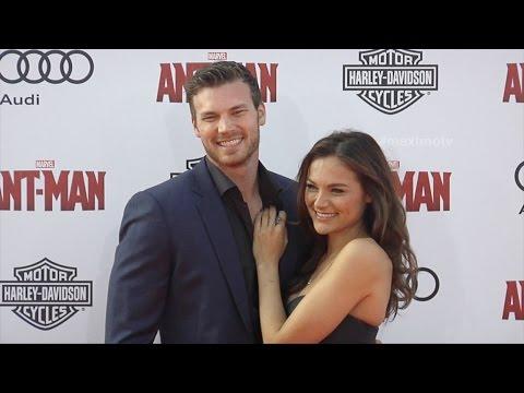 Derek Theler & Christina Ochoa  Marvel's AntMan World Premiere Red Carpet
