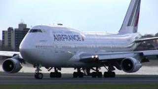"""Super Shiny"" Air France 747 Departs 4-17-2011"