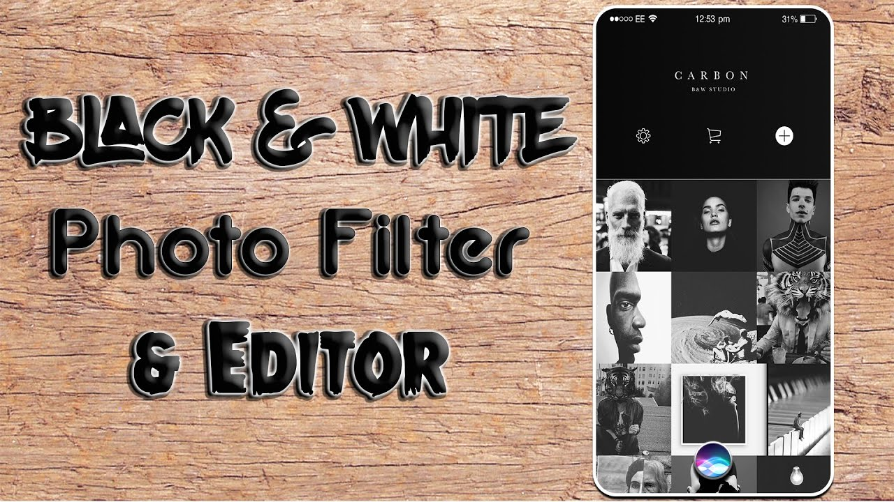 Best black white mobile photo editor filter app carbon