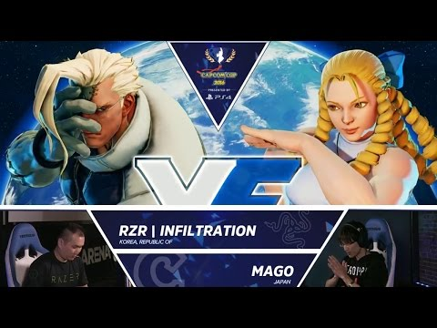 RZR Infiltration vs Mago - Capcom Cup Day 1 Top 32 - CPT2016