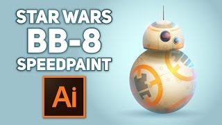 Star Wars BB-8 Speedpaint in Adobe Illustrator by Yuzach