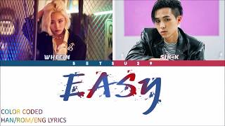 Gambar cover Whee In(휘인) – Easy (Feat. Sik-K) COLOR CODED HAN/ROM/ENG LYRICS