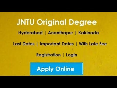 HOW to apply od(original degree-2016) jntuk,jntuh,jntua