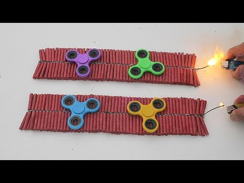 1000 FIRECRACKERS vs FIDGET SPINNERS!