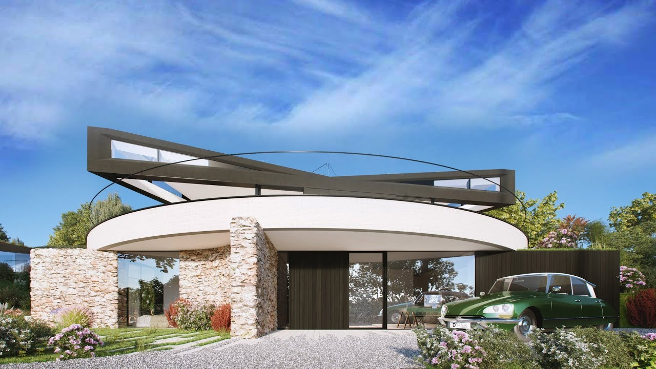 The D*Haus Company designs Devon house with a swivelling top - YouTube