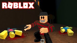 SURVIVE FREDDY KRUEGER IF YOU CAN!!! - ROBLOX THE CLOWN KILLINGS in Spanish