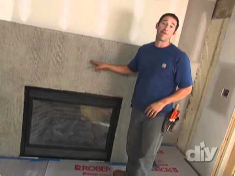 Stacked stone fireplace how to diy youtube solutioingenieria Choice Image